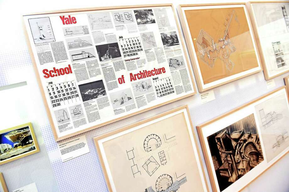 """""""Pedagogy and Place, Celebrating 100 Years of Architecture Education at Yale,"""" opened at the Art and Architecture Building at Yale University in New Haven on Dec. 3. Photo: Arnold Gold-New Haven Register"""