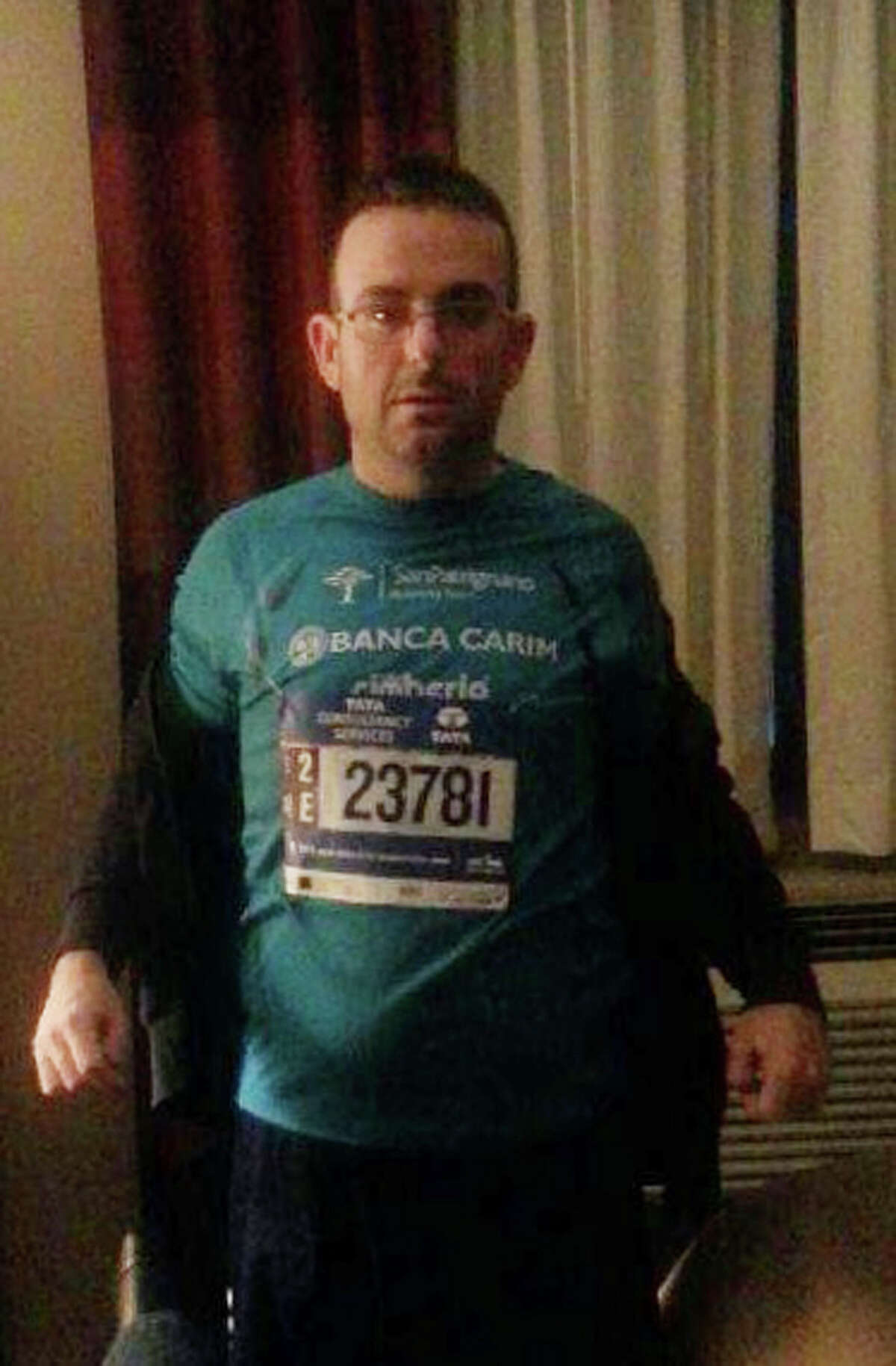 This undated photo provided by the New York Police Department shows Gianclaudio Marengo. The NYPD is asking for the public's help in locating Marengo, an Italian man who speaks only Italian and is mentally challenged, who ran in the New York City Marathon. Police said Marengo was last seen at the finish line in Central Park at around 3 p.m. on Nov. 1, 2015.
