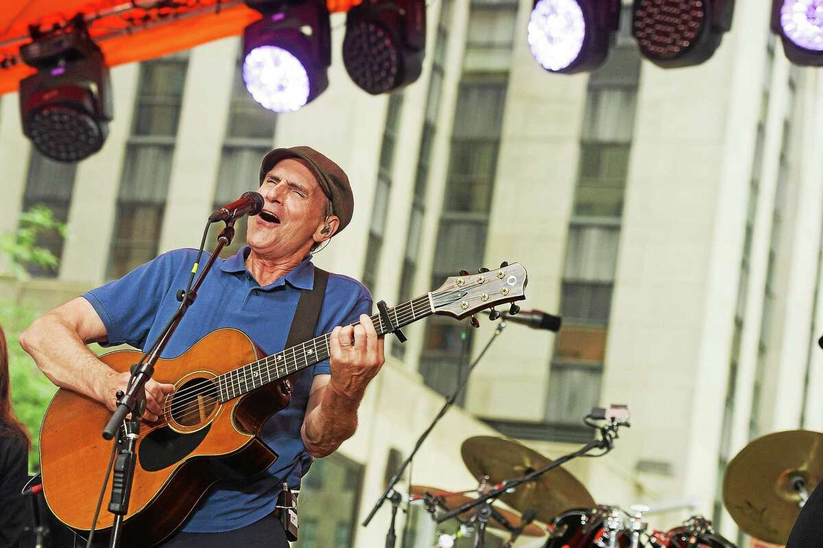 """James Taylor performs on NBC's """"Today"""" show last month."""