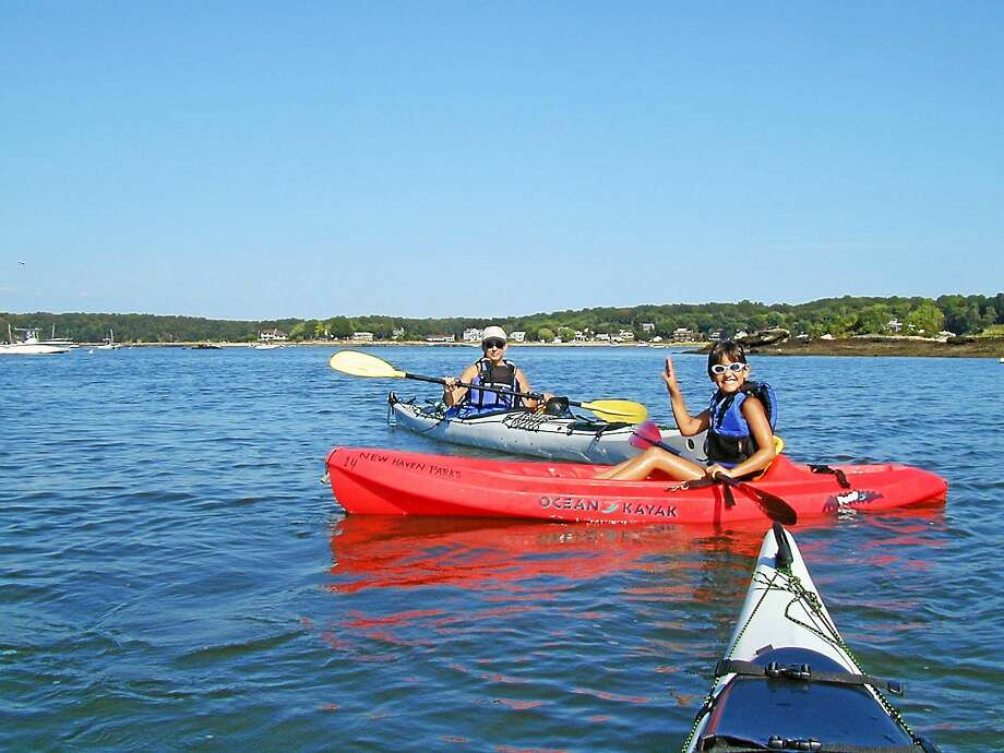 Kayaking in New Haven. Photo: Contributed Photo