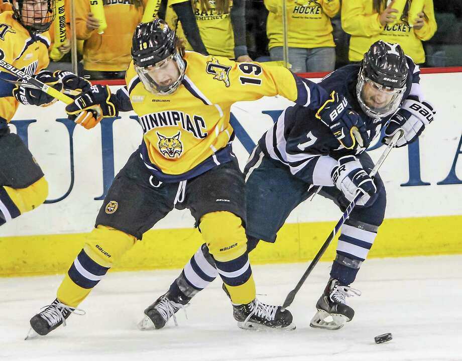 Friday night's Yale-Quinnipiac hockey game at Ingalls Rink will be televised in 17 states. Photo: Register File Photo   / COPYRIGHTED