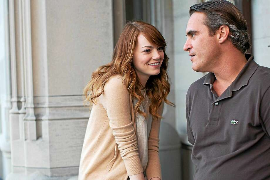 "Philosophy professor Abe Lucas (Joaquin Phoenix) is the big man on campus in ""Irrational Man,"" which also stars Emma Stone. Photo: Sabrina Lantos - Sony Pictures Classics    / THE WASHINGTON POST"