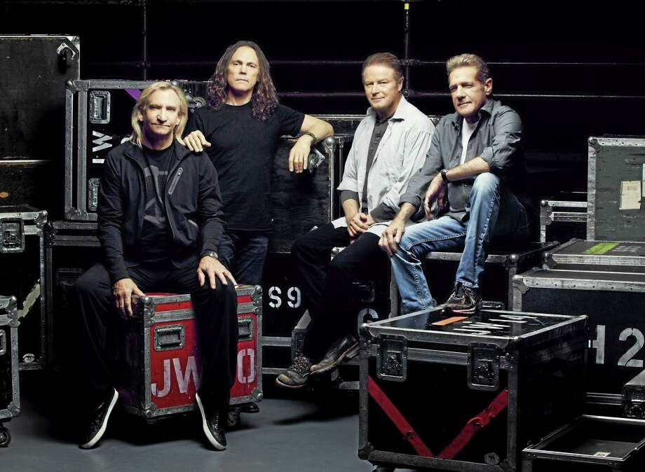 Contributed photo  The Eagles are set to land at the XL Center to perform Wednesday, July 15. Above, The Eagles: Joe Walsh, Timothy B. Schmit, Don Henley and Glen Frey. Photo: Journal Register Co. / James Glader