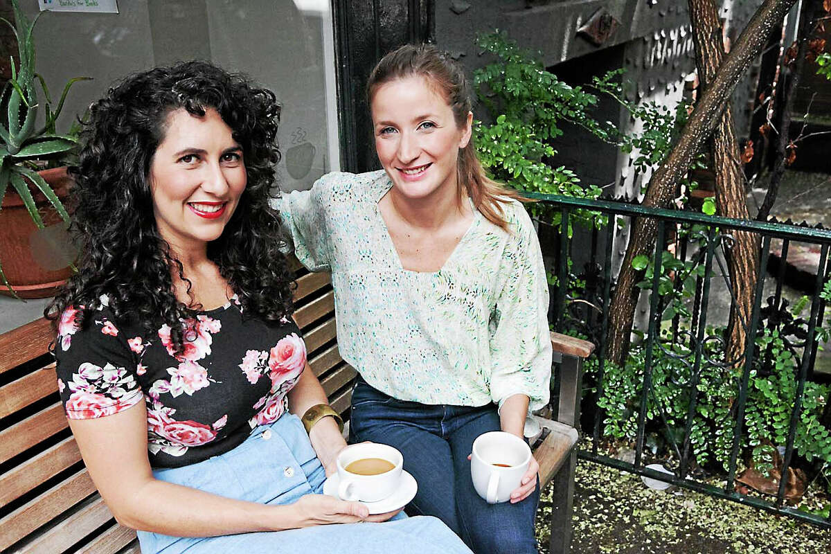 Erin Patinkin, left, and Agatha Kulaga, owners of Ovenly in Brooklyn, share a passion for baking as well as Eastern European roots. Mario Batali is counted among those who love their Brooklyn blackout cake.