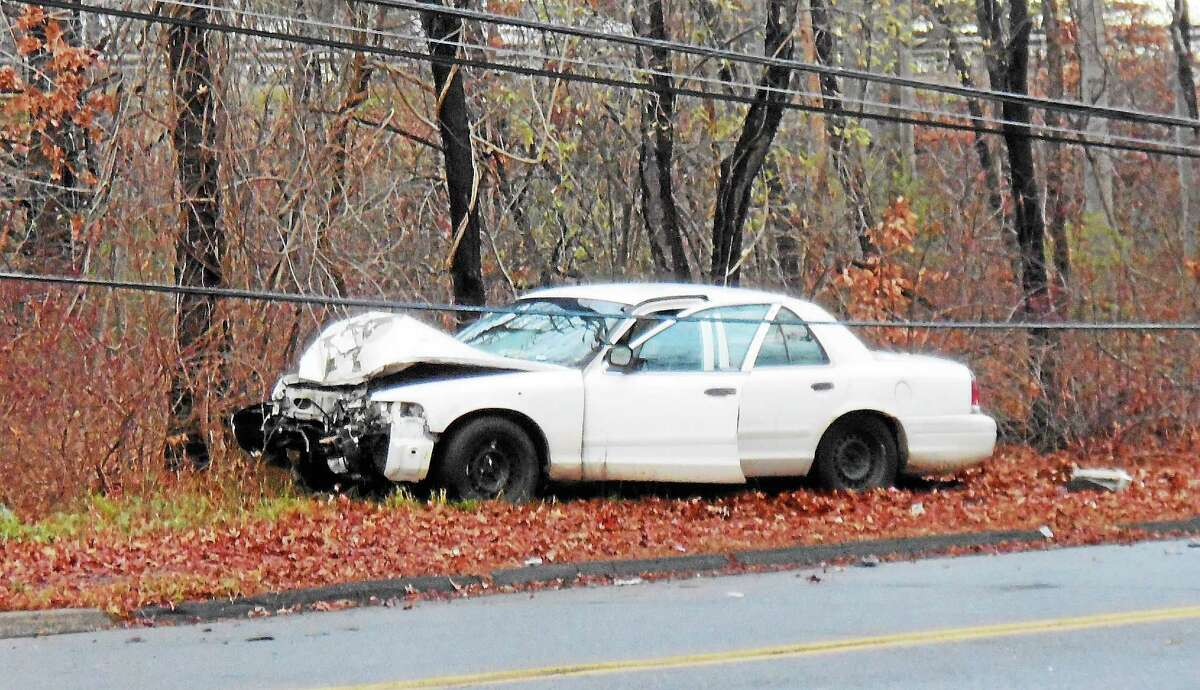 Part of Pool Road in North Haven was shut down for a short time early Thursday after a car crashed into a pole. The pole landed in some nearby wires.
