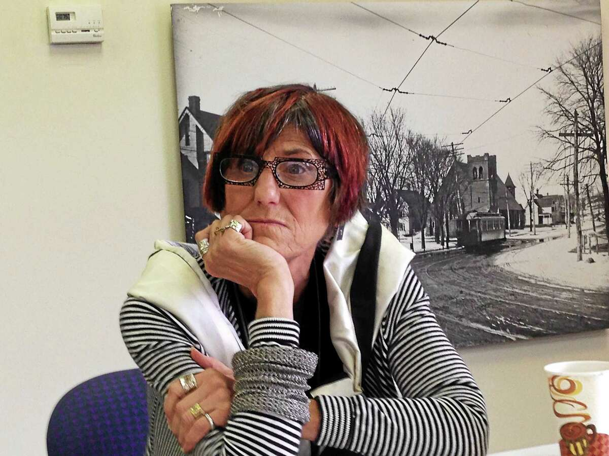 U.S. Rep. Rosa DeLauro speaks with reporters in her New Haven office Tuesday.