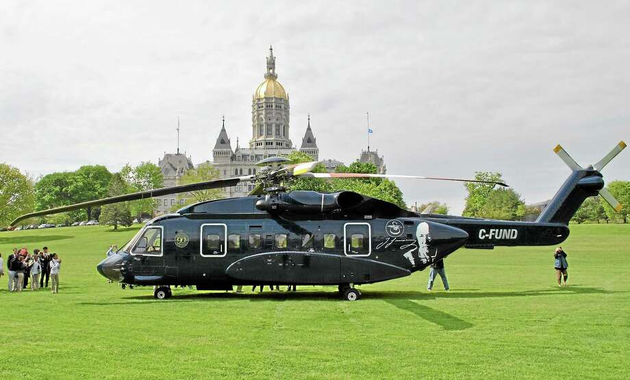 A Sikorsky S-92 helicopter lands at the Connecticut State Capitol in recognition of Manufacturing and Technology Day, May 15. Photo: Submitted Photo