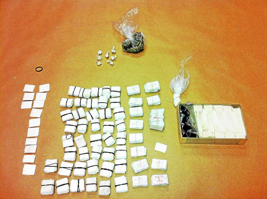 File image of heroin (Photo courtesy of Torrington Police Department) Photo: Journal Register Co.
