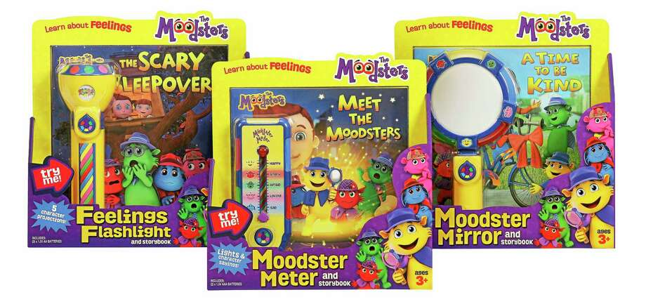 Moodsters books and toys run about $20. Photo: Contributed