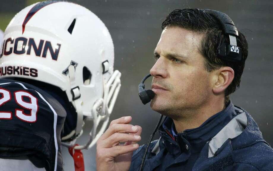 UConn head coach Bob Diaco. Photo: Michael Dwyer — The Associated Press   / AP