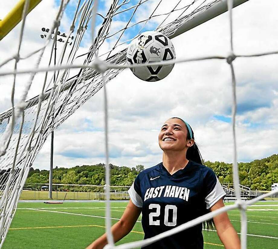 Megan Kikosicki hopes to lead East Haven to its first winning girls soccer season in program history. Photo: Peter Hvizdak -- New Haven Register
