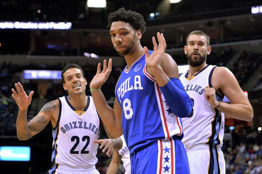 Philadelphia 76ers center Jahlil Okafor is finding trouble off the court. Photo: Brandon Dill — The Associated Press   / FR171250 AP