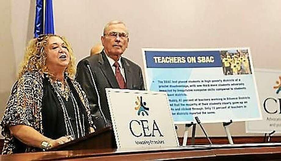 CEA President Sheila Cohen and Executive Director Mark Waxenberg Photo: Christine Stuart Photo, Ctnewsjunkie.com