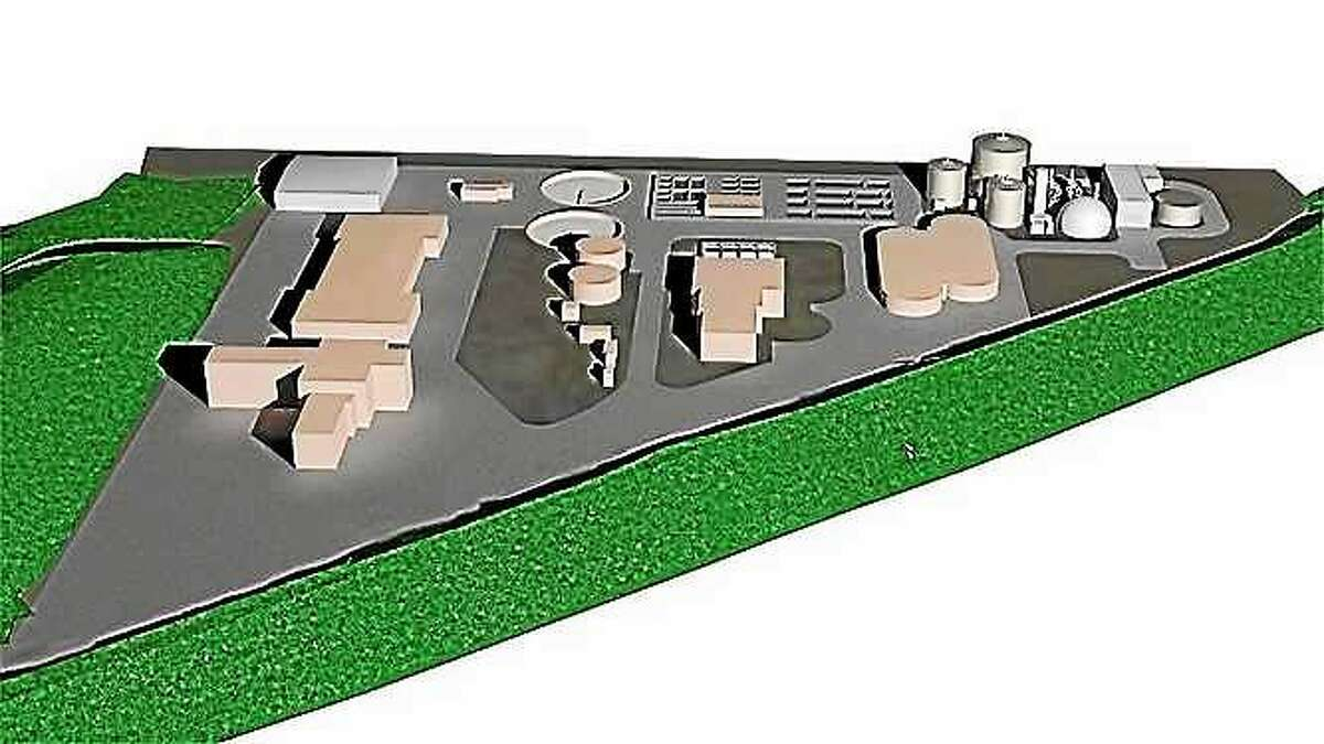 A rendering of the proposed organic recycling plant.