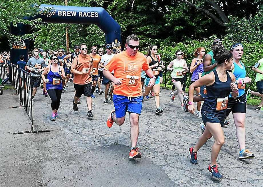 The Craft Brew Race at Edgewood Park in New Haven Aug. 1. Photo: Arnold Gold — New Haven Register