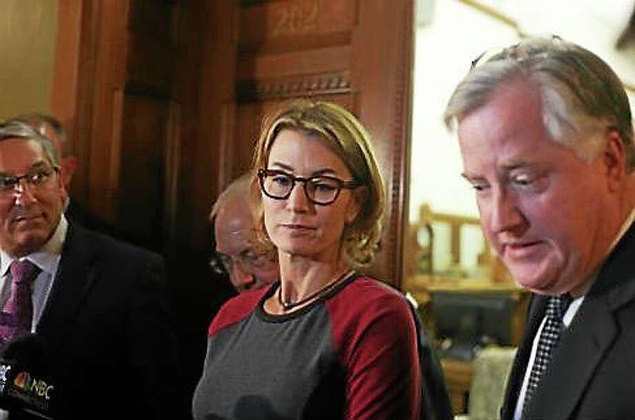 House Minority Leader Themis Klarides and House Speaker Brendan Sharkey. Photo: Christine Stuart — Ctnewsjunkie.com