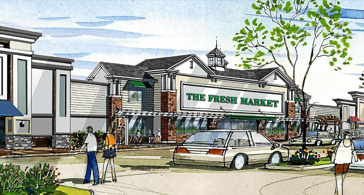 Rendering of Fresh Market, the anchor store at Guilford Commons, the former Rock Pile.