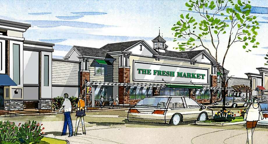 Rendering of Fresh Market, the anchor store at Guilford Commons, the former Rock Pile. Photo: Contributed Photo
