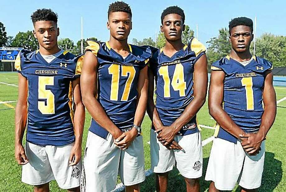 Cheshire Academy standouts, from left to right, Brandon Sebastian, Tarik Black, CJ Lewis and CJ Holmes Photo: Arnold Gold -- New Haven Register