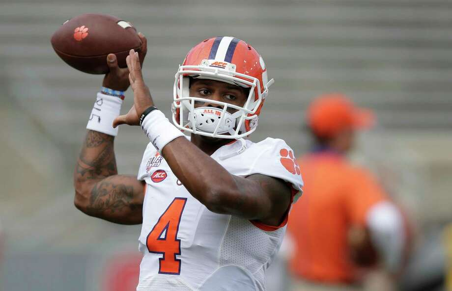 Clemson quarterback Deshaun Watson warms up  prior to Saturday's game against North Carolina State. Photo: Gerry Broome — The Associated Press   / AP