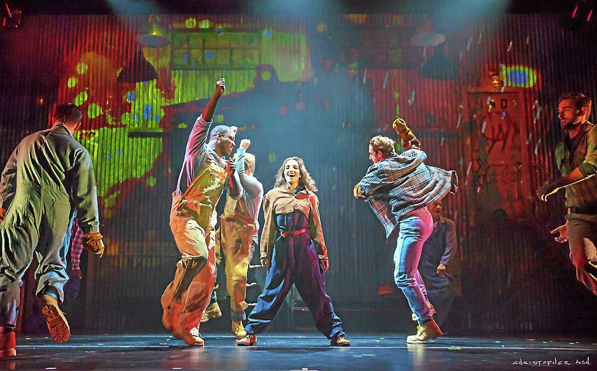 "Julia Macchio in ""Flashdance -- The Musical."""