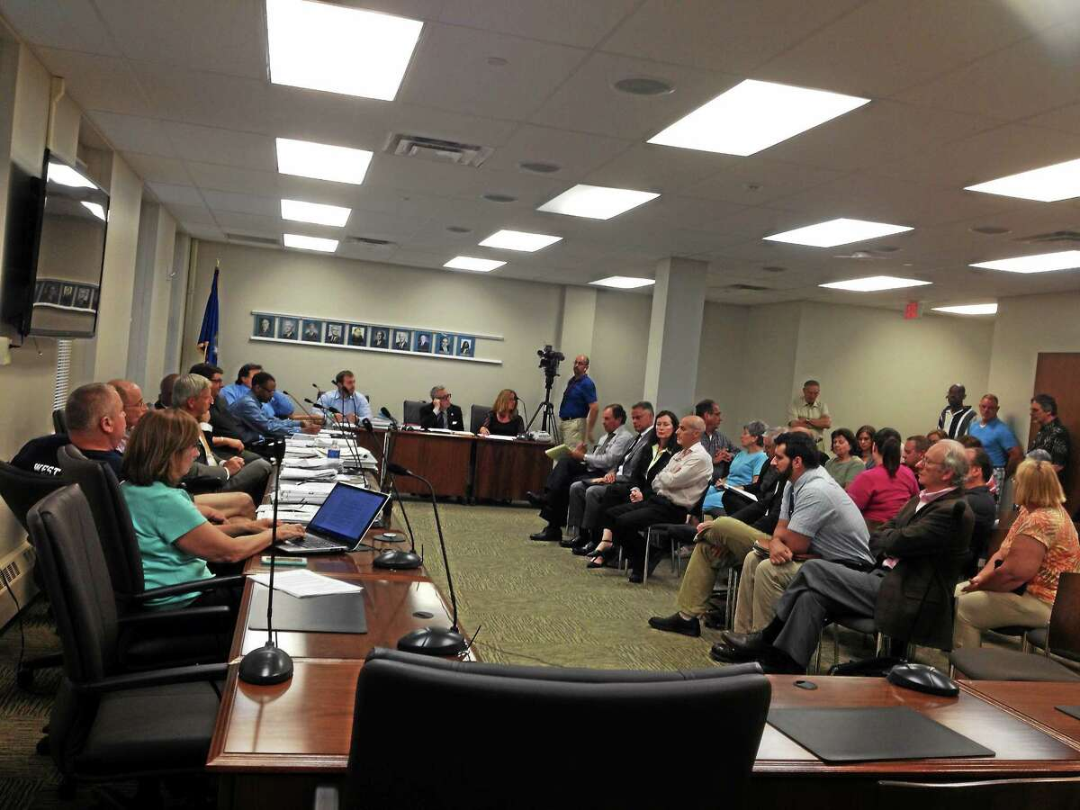 Crowds turned out at West Haven City Hall for Planning and Zoning Commission meetings on a proposed methadone clinic.