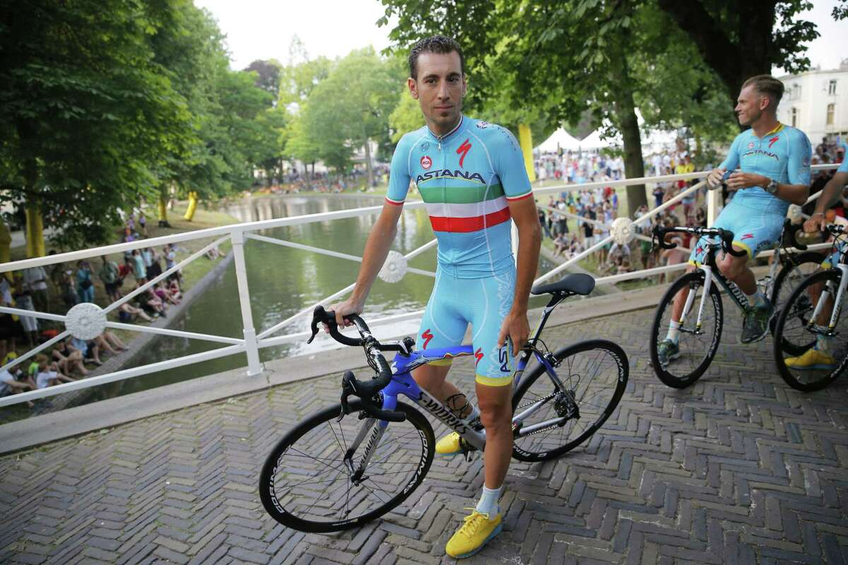 Vincenzo Nibali waits for the team presentation in Utrecht, Netherlands, on Thursday, two days ahead of the start of the Tour de France.