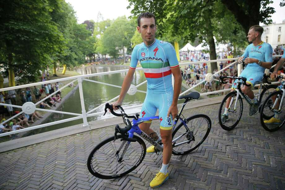 Vincenzo Nibali waits for the team presentation in Utrecht, Netherlands, on Thursday, two days ahead of the start of the Tour de France. Photo: Christophe Ena — The Associated Press   / AP