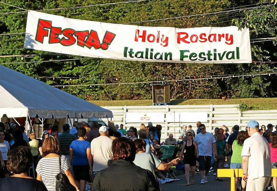 Crowds gather at last year's Italian festival in Anosnia. Photo: Contributed Photo