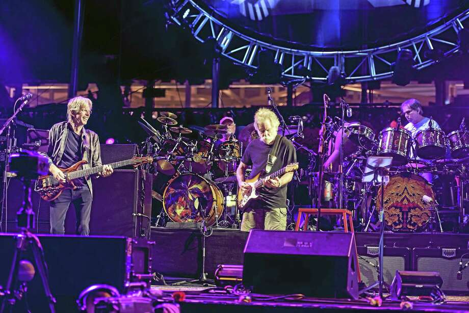 Phil Lesh, left, Bill Kreutzmann, Bob Weir and Mickey Hart perform at the Grateful Dead's Fare Thee Well show at Levi's Stadium last weekend in Santa Clara, Calif. Photo: Jay Blakesberg - Invision For The Grateful Dead, AP   / Invision
