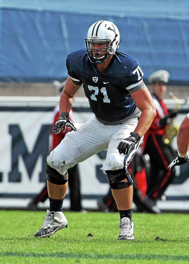 Yale offensive lineman Beau Iverson. Photo: Photo Courtesy Of Yale Athletics   / Copyright 2015 by Jack Warhola, all rights reserved.