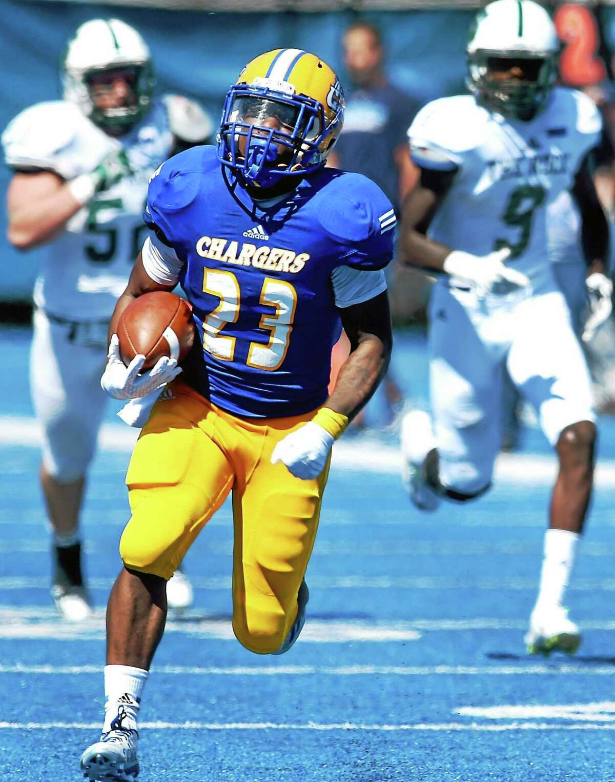 Andre Anderson of the University of New Haven.