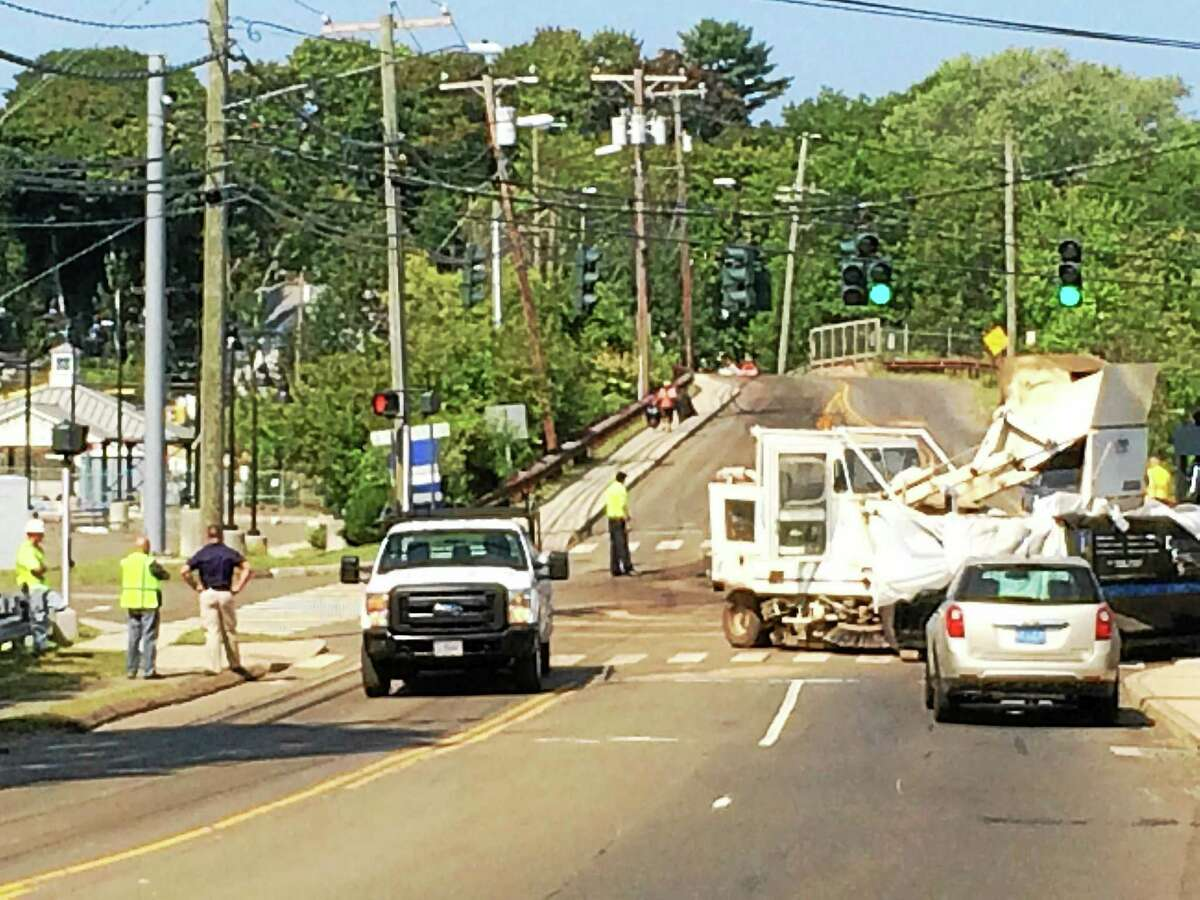 Part of Maple and Kirkham streets were closed after an oil spill early Tuesday afternoon.