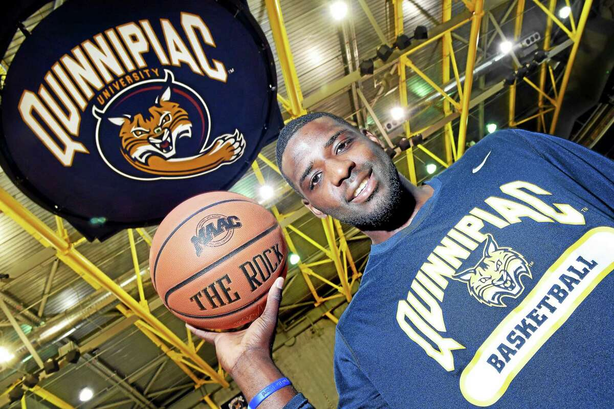Quinnipiac University guard Giovanni McLean is photographed at the TD Bank Sports Center in Hamden.