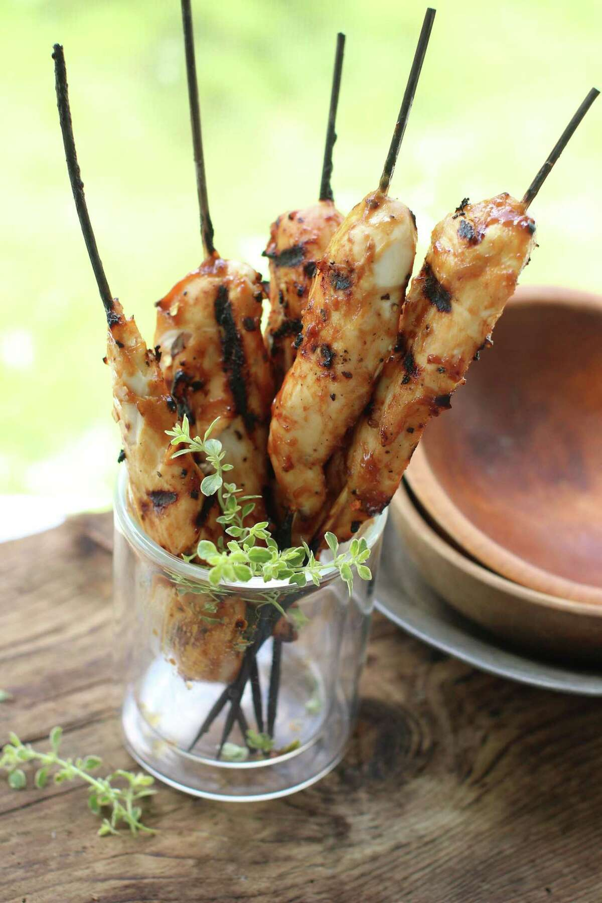 Hoisin-Dijon Chicken Skewers