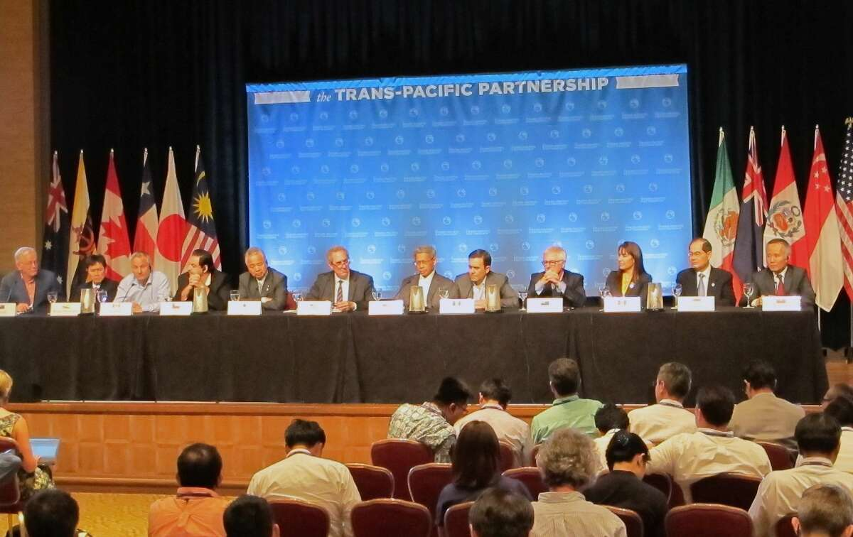 Ministers from 12 nations negotiating a Pacific Rim trade pact hold a news conference in Lahaina, Hawaii, Friday, but hit an impasse on Saturday. Connecticut's U.S. Rep. Rosa DeLauro, D-3, has said she does not support the deal.