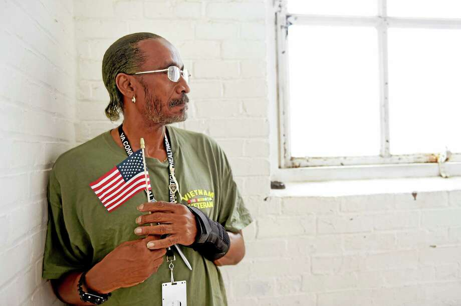 Vietnam Veteran Ben Simon, 61, of West Haven, is one of a group of veterans who have gotten their own homes as part of statewide collaborative effort between various agencies to end homelessness among veterans in 2015. Tuesday, July 21, 2015 Photo: (Peter Hvizdak - New Haven Register)   / ?2015 Peter Hvizdak