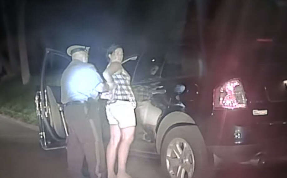 A dash-cam video recorded the night a New Jersey rookie