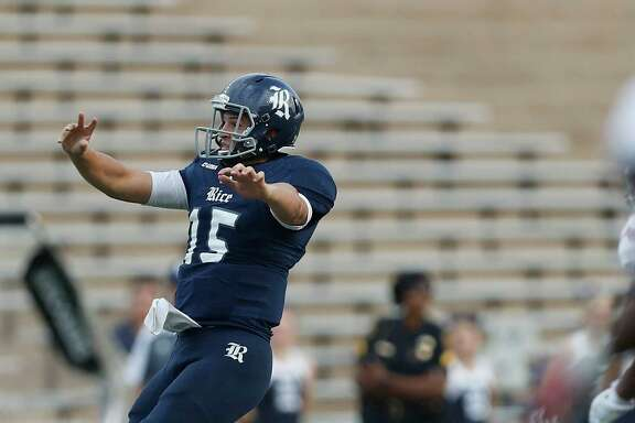 Redshirt sophomores J.T. Granato, above, and Jackson Tyner are the most experienced of the quarterbacks who will compete for the starting job at Rice.