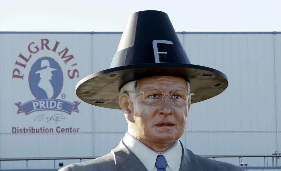 "A statue of Pilgrim's Pride leader Lonnie ""Bo"" Pilgrim is displayed near Pittsburg, 110 miles east of Dallas. Photo: LM Otero, STF / AP2008"