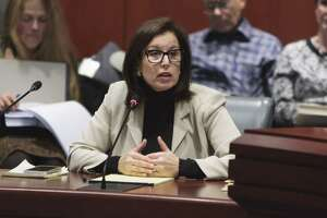 Senator Gayle Slossberg (D-Milford) testified Feb. 7, 2017  in support of Senate Bill 536, a bill she introduced to ensure that the safety of community residents is considered when placing cell canister antennas.
