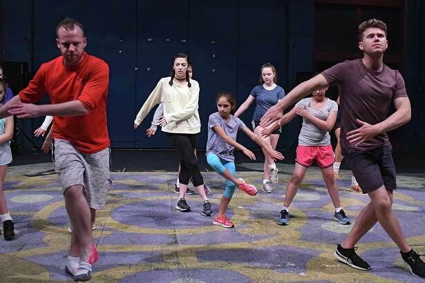 Chris Naish, left, and Jamie Hodges, right, teach a class at Camp Rince Ceol, an Irish for dance and music camp at Union College on Monday, July 24, 2017 in Schenectady, N.Y. (Lori Van Buren / Times Union)