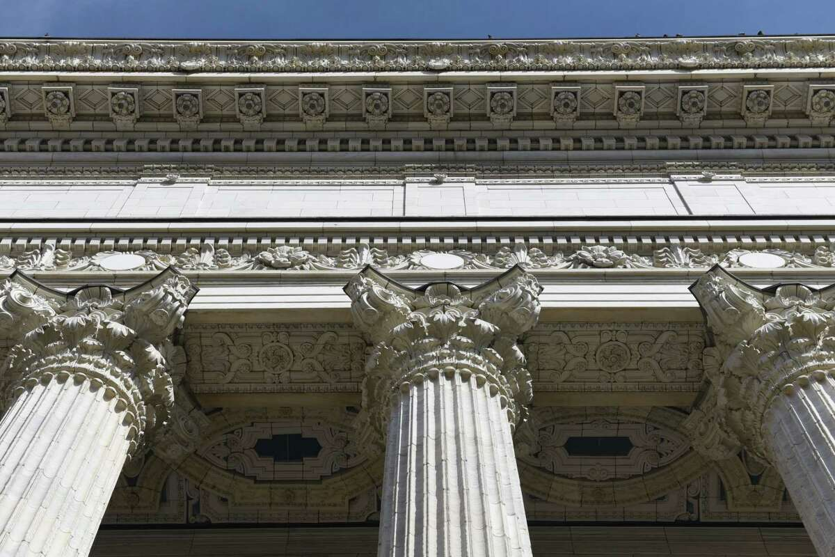 Architectural detail of the State Education Building on Tuesday, Feb. 28, 2017, in Albany, N.Y. (Will Waldron/Times Union)