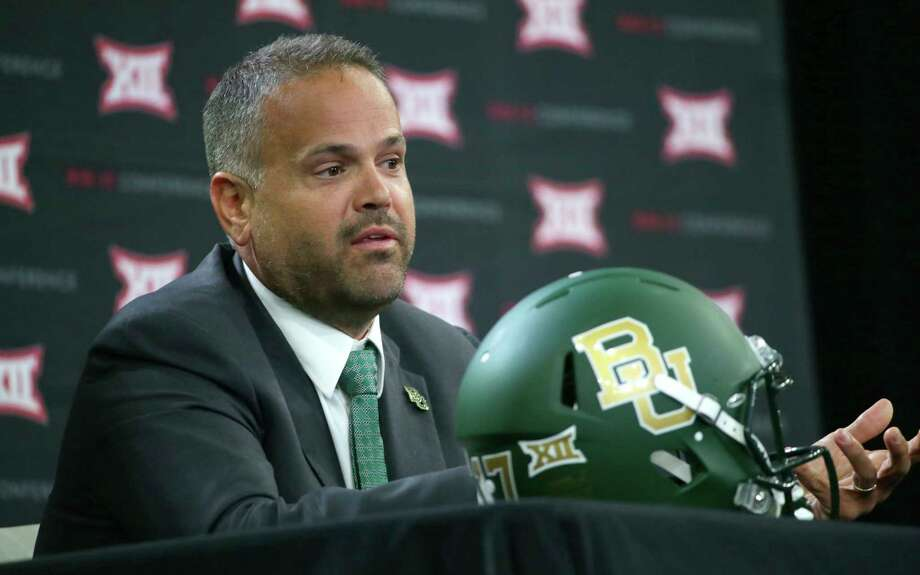 Baylor head football coach Matt Rhule speaks during the Big 12 NCAA college football media day in Frisco, Texas, Tuesday, July 18, 2017. (AP Photo/LM Otero) Photo: LM Otero, STF / Copyright 2017 The Associated Press. All rights reserved.