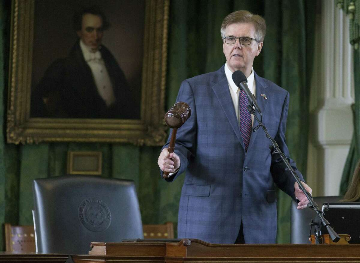 Lt. Gov. Dan Patrick, shown presiding over the Texas Senate during a special session July 24, 2017, is on state Sen. Carlos Uresti's potential witness list in his criminal fraud trial.