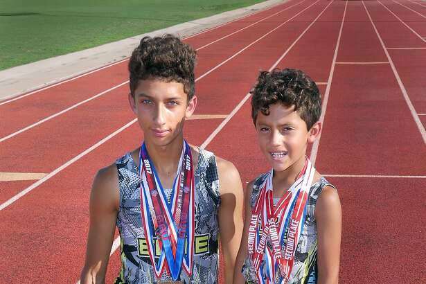 BC Elite athletes and brothers D'Carlo and Levi Calderon are competing at the USTF Hershey National Junior Olympics Track and Field Championships in Lawrence, Kansas.