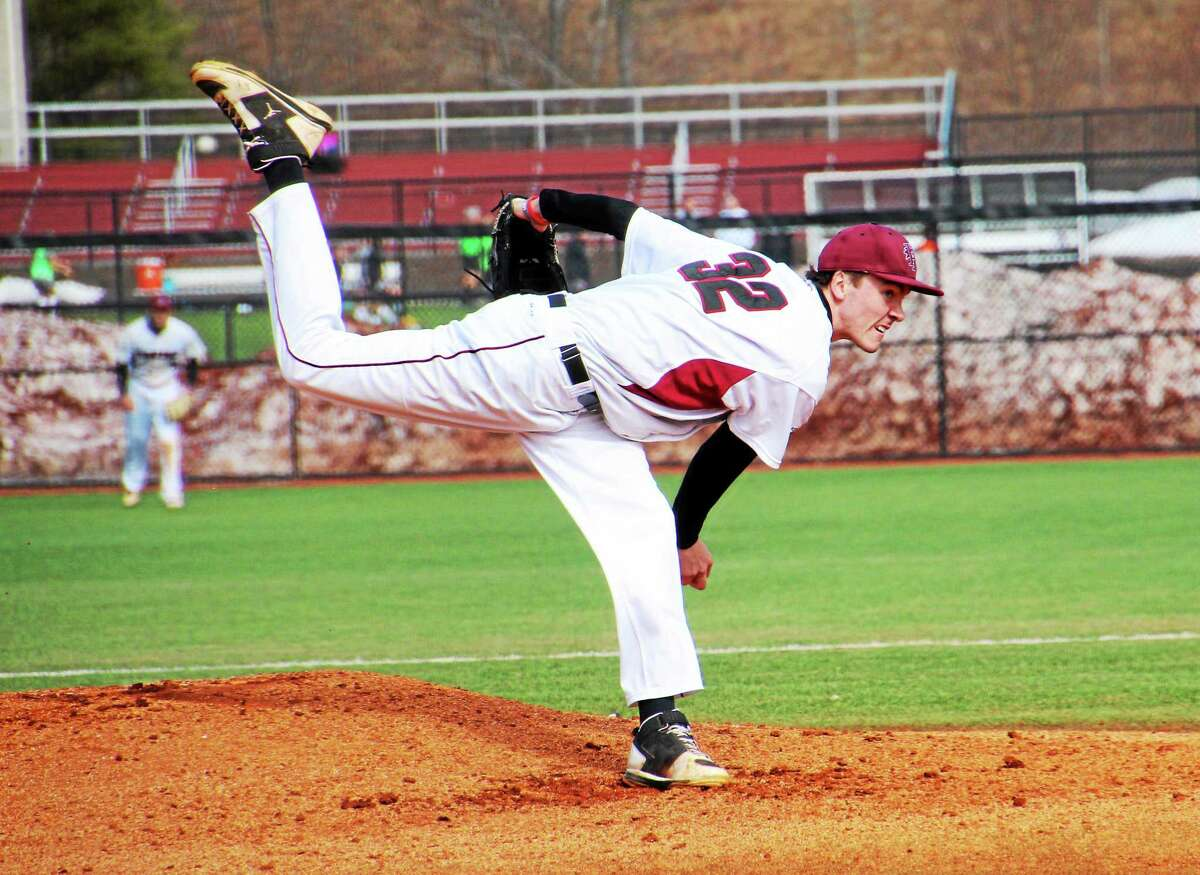 Madison's Miles Sheehan has a 5-0 record and a 0.44 ERA for Franklin Pierce, the No. 1-ranked team in Division II.