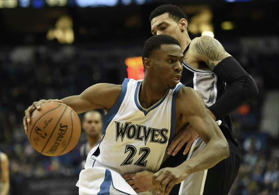 Minnesota Timberwolves forward Andrew Wiggins was named NBA Rookie of the Year on Thursday. Photo: Hannah Foslien — The Associated Press File Photo   / FR159563 AP