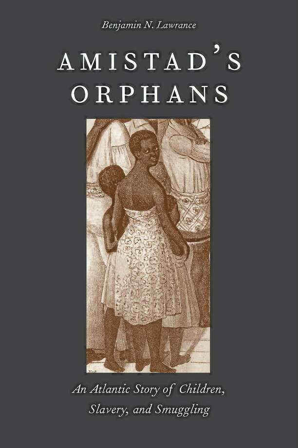 """The cover of the book """"Amistad's Orphans"""" shows Kag'ne, Mar'gru and Te'me aboard the Amistad, from a lithograph by John Childs. Photo: (Courtesy Of The Chicago History Museum)"""