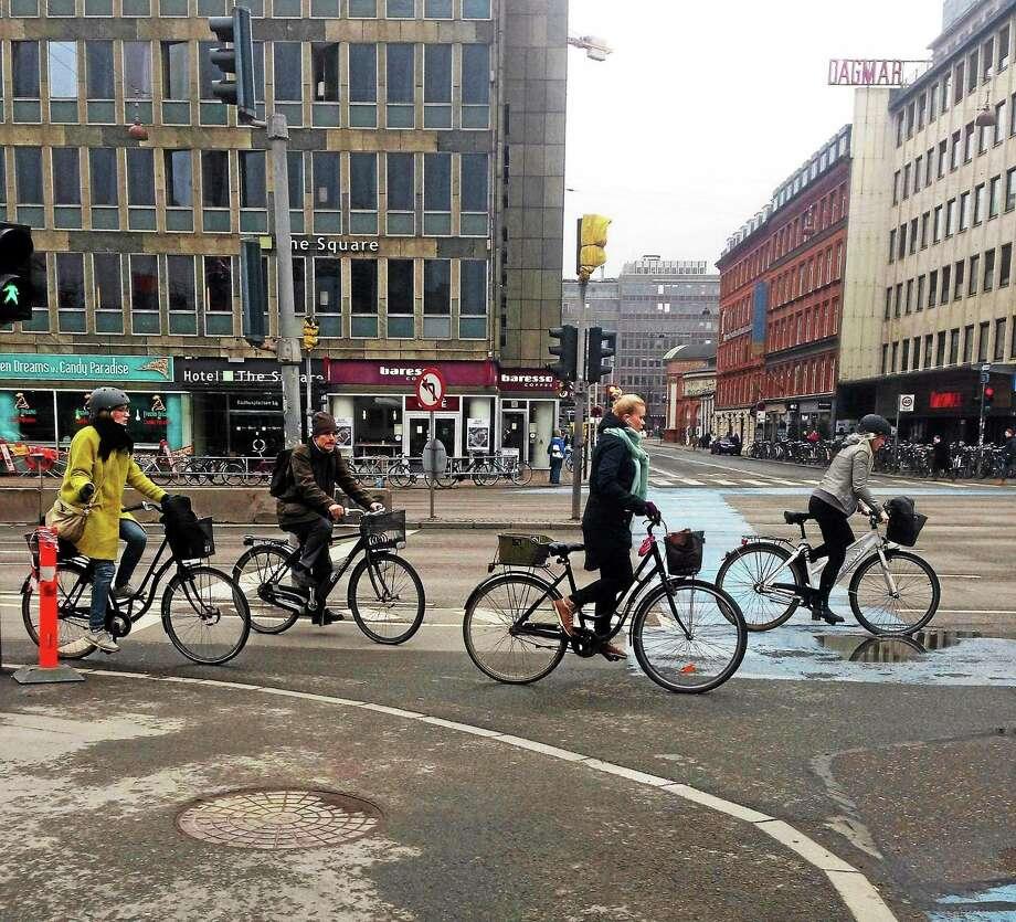 Bike riding in the city of Copenhagen, Denmark. Photo: Charlotte Beach